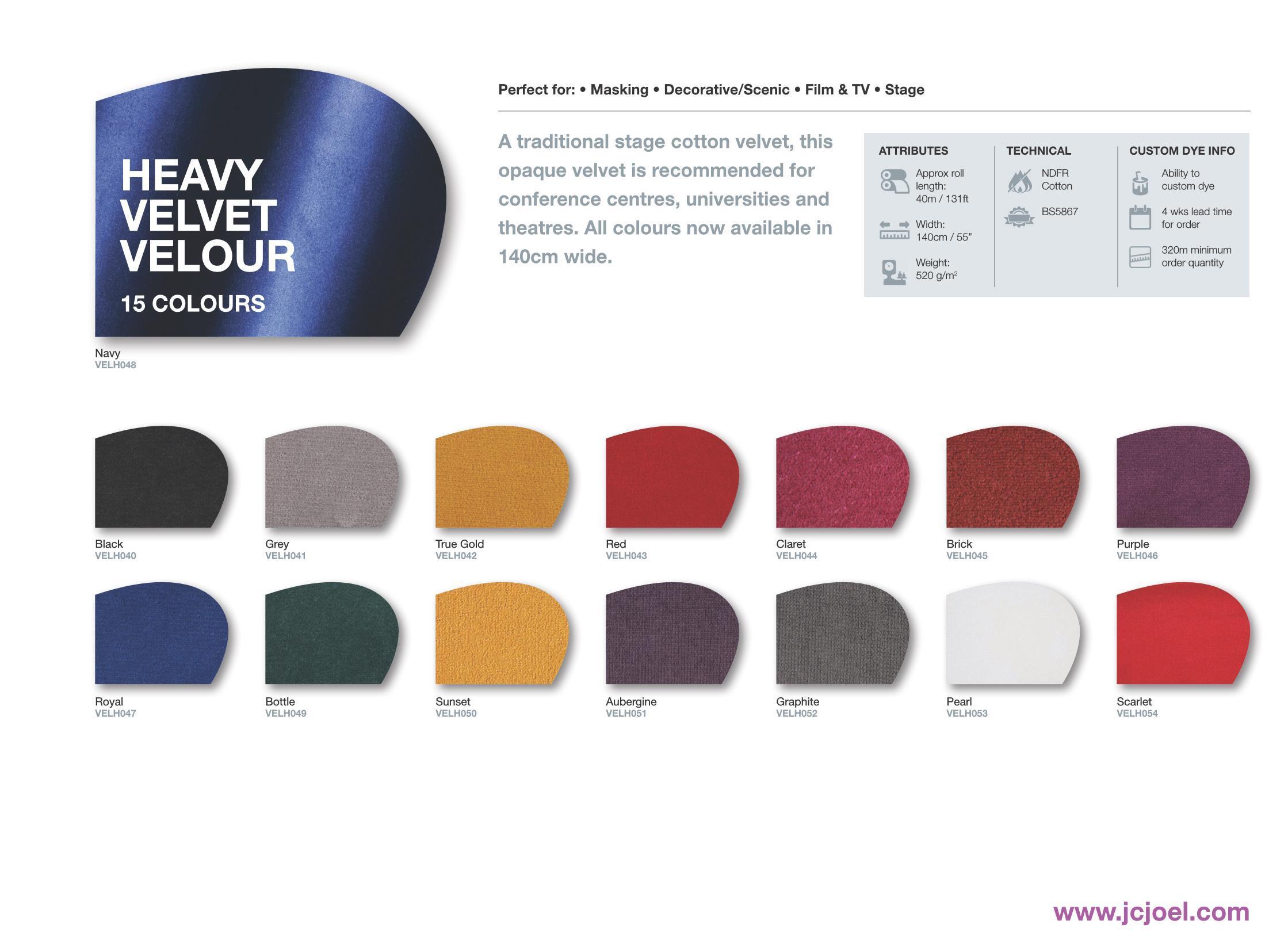 PDF. Heavy velvet velour
