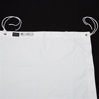 "DT Butterfly tyg White Solid - Windbag 20x20"" (610x610cm)"