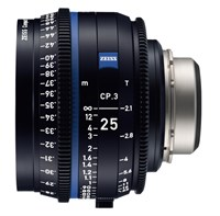 Zeiss Compact Prime CP.3, 25mm, T2.1, objektiv med PL-mount