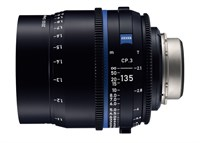 Zeiss Compact Prime CP.3, 135mm, T2.1, objektiv med PL-mount