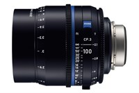Zeiss Compact Prime CP.3, 100mm, T2.1, objektiv med PL-mount