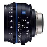 Zeiss Compact Prime CP.3, 15mm, T2.9, objektiv med PL-mount