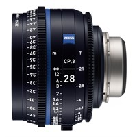 Zeiss Compact Prime CP.3, 28mm, T2.1, objektiv med PL-mount